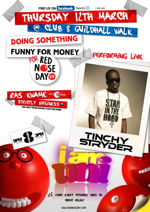 comic relief tinchy stryder front